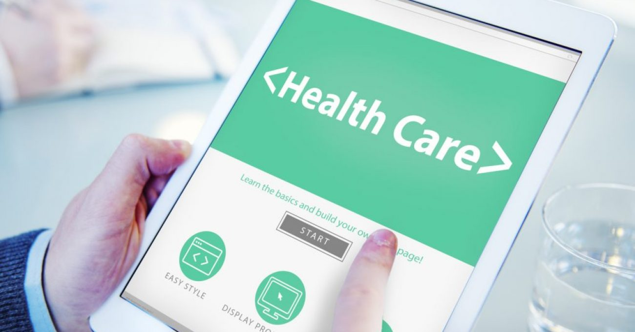 Digital Online Website Health Care Concept